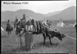 Kootenay squaw & travois : [Kootenay woman and travois]