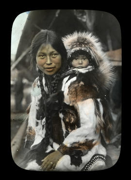 Eskimo woman and child, King Island