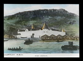 Fort Simpson : courtesy H.B.Co. [Hudson's Bay Company] - [illustration]