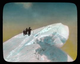 [Group of Alpine Club of Canada climbers near cornice]