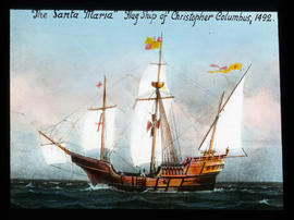 """The Santa Maria""  Flag Ship of Christopher Columbus, 1492."