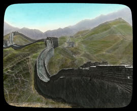 Looking eastward along the Great Wall from Nankow Pass.