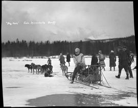 """Dog Team"" Lake Minnewanka, Banff, Alberta."