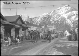 Banff Winter Carnival, parade on Banff Avenue