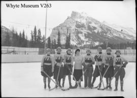 Banff Winter Carnival, ladies hockey team