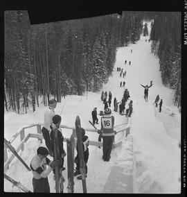 High School Ski Meet, Banff, Alberta.