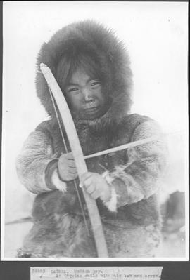 Canada. Hudson Bay. An Esquimo child with his bow and arrow / 38883