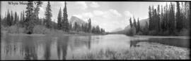 Untitled : [Mount Rundle, High water near Bow River at Banff]