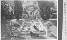 Lady Barnard in the sunken garden of the Government House / 27830