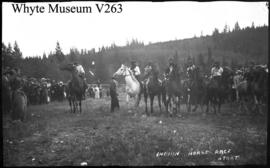 Banff Indian Days, Indian horse race, start