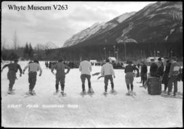 Banff Winter Carnival, men's snowshoe race
