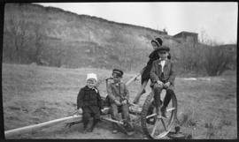 [Barnes family at Bismark farm; Bismark, North Dakota]