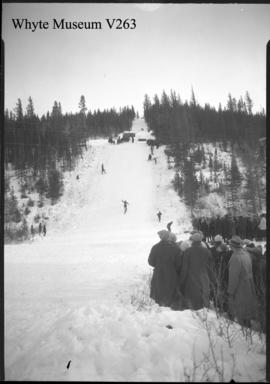 Banff Winter Carnival, ski jumping at Buffalo Paddocks
