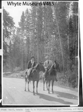 Banff, Canada. Mrs. W. A. Williamson, Chicago and Winnipeg, off for a ride / 27102