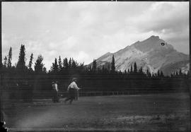 Highland Games - track & field, Banff, Alberta.