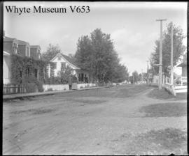 Street in Cacouna, Canada (No.55). 9/l/95 : [possibly Chicoutami]