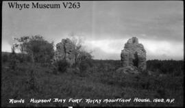 Ruins of H. B. C. fort, Rocky Mountain House