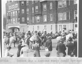 Indian Day. Indians visit Banff Springs Hotel / 27315