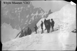 Untitled : [ACC climbers resting on Mount Fay]