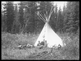 Untitled : [group and teepee]