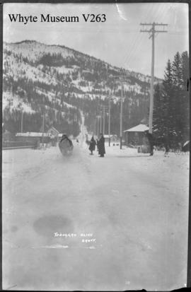 Banff Winter Carnival, toboggan slide