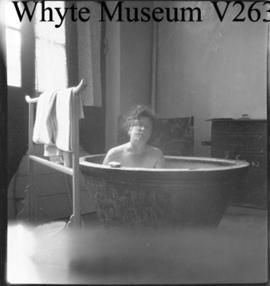 China, woman in bathtub